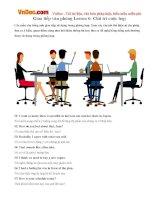 Tiếng Anh Giao tiếp văn phòng Lesson 6: Chủ trì cuộc họp