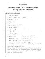Tuyển tập 540 bài toán phương trình và bất phương trình đại số phần 2