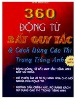 360 dong tu bat qui tac p1 3363 SƯU TẦM