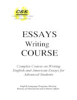 english essays writing course for advanced students