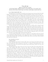 SKKN rèn LUYỆN kỹ NĂNG GIẢI PHƯƠNG TRÌNH CHỨA ẩn dưới dấu căn bậc HAI BẰNG PHƯƠNG PHÁP đặt ẩn PHỤ CHO học SINH lớp 10