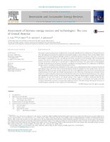 Assessment of biomass energy sources and technologies: The case of Central America