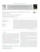 Assessment on steam gasification of municipal solid waste against biomass substrates