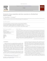 Estimation of gas composition and char conversion in a fluidized bed biomass gasifier