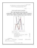 SKKN ôn tập KHẢO sát hàm số CHƯƠNG i GIẢI TÍCH lớp 12 BAN cơ bản BẰNG PHẦN mềm GEOMETER'S SKETCHPAD