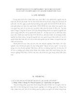 Tiểu luận thuyết quản lý của trường phái quan hệ con người và sự vận vào điều kiện các doanh nghiệp VN