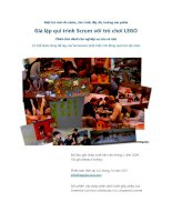 Giả lập qui trình Scrum với trò chơi LEGO