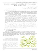 SKKN ỨNG DỤNG sơ đồ KHỐI và sơ đồ tư DUY vào dạy học môn TOÁN cấp THPT
