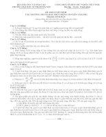 Tuyển tập 10 đề thi vào lớp 10 chuyên môn sinh học