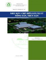 Lập dự án nhà máy chế biến nông sản thủy sản
