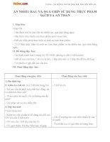 Giáo án Khoa học 4 bài 10