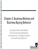 Chapter 5   Foundations of Marketing