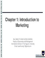 Chapter 1  Foundations of Marketing