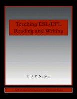 Teaching ESL EFL reading and writing