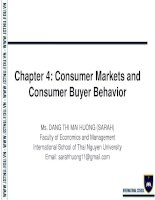 Chapter 4  Foundations of Marketing