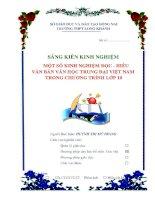 MỘT số KINH NGHIỆM đọc   HIỂU văn bản văn học TRUNG đại VIỆT NAM TRONG CHƯƠNG TRÌNH lớp 10