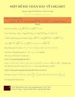 MỘT bài TOÁN HAY về hàm số LOGARIT