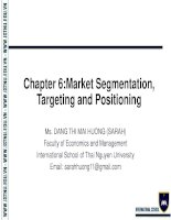 Chapter 6  Foundations of Marketing