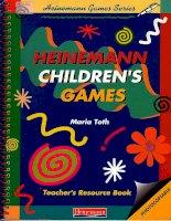 english teaching resources heineman children games   teachers resource book   maria toth