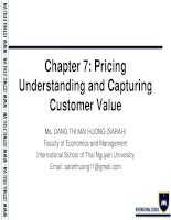 Chapter 7 price  Foundations of Marketing