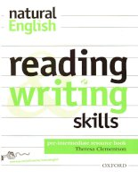 Teaching resources   natural english   pre intermediate reading and writing skills resource book