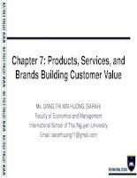 Chapter 7 product  Foundations of Marketing
