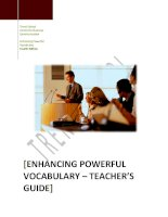 Teachers   enhancing powerful vocabulary   4a ed
