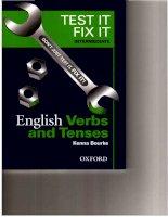Test it fix it   english verbs  tenses   intermediate
