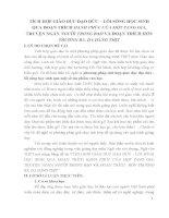 skkn TÍCH hợp GIÁO dục đạo đức – lối SỐNG học SINH QUA đoạn TRÍCH HẠNH PHÚC của một TANG GIA, TRUYỆN NGẮN NGƯỜI TRONG BAO và đoạn TRÍCH  hồn TRƯƠNG BA, DA HÀNG THỊT