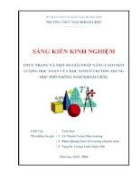 skkn thực trạng và một số giải pháp nâng cao chất lượng học toán của học sinh ở trường THPT nam khoái châu