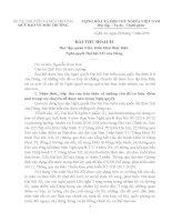 bai thu hoach nghi quyet dai hoi dang lan thu XII