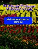 Bài giảng điện tử mầm non lớp Chồi đề tài KPXH: Trò chuyện về ngày tết nguyên đán