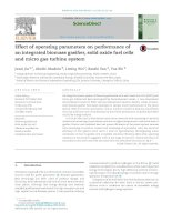 Effect of operating parameters on performance of an integrated biomass gasifier, solid oxide fuel cells and micro gas turbine system