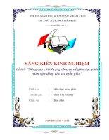 skkn nâng cao chất lượng chuyên đề giáo dục phát triển vận động cho trẻ mẫu giáo