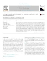 An experimental study on catalytic bed materials in a biomass dual fluidised bed gasifier