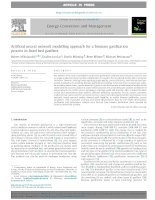 Artificial neural network modelling approach for a biomass gasification process in fixed bed gasifiers