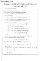 (Luyện thi Toán học) Phương trình, hệ phương trình đại số và căn thức