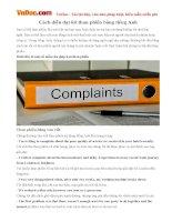 Cách diễn đạt lời than phiền bằng tiếng Anh