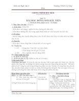 Giáo án ngữ văn 6 học kỳ 2 Trường THCS Lê Quý Đôn