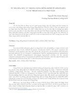 TỰ DO HÓA ĐẦU TƯ TRONG CỘNG ĐỒNG KINH TẾ ASEAN(AEC) VÀ SỰ THAM GIA CỦA VIỆT NAM