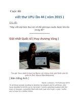 Cuộc thi viết thư UPU lần 44 ( năm 2015 )