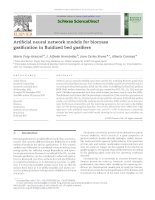 Artificial neural network models for biomass gasification in fluidized bed gasifiers