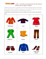 Flashcards for Kids: Clothes