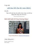 Cuộc thi viết thư UPU lần 43 ( năm 2014 )