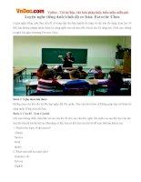 Luyện nghe tiếng Anh trình độ cơ bản: Favorite Class