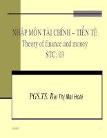 Slide bài giảng Đại học kinh tế Hồ Chí Minh: Tài chính tiền tệ