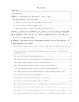 Báo cáo thực tập tôt nghiệp: ĐÁNH GIÁ VÀ ĐỀ XUẤT GIẢI PHÁP ĐỔI MỚI QUY TRÌNH, THỦ TỤC HÀNH CHÍNH MỘT SỐ LĨNH VỰC QUAN TRỌNG của UBND phường yên thanh