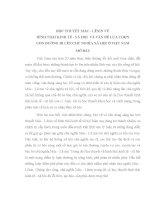 TIỂU LUẬN - HỌC THUYẾT HÌNH THÁI KINH tế xã hội và sự lựa CHỌN CON ĐƯỜNG đi lên CNXH ở nước TA HIỆN NAY