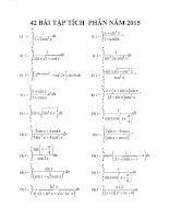 42 bài tập tích phân có đáp án