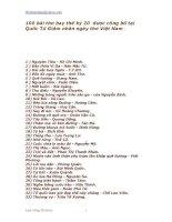 CÁC BÀI THƠ HAY NHẤT THẾ KỈ 20 ĐƯỢC CÔNG BỐ Ở QUỐC TỬ GIÁM NGÀY THƠ CA